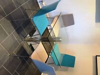 John Lewis Tropez Glass Top Dining Table and Chairs