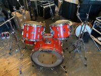 80's Premier Royale 4 pcs Drum Kit + Hardware + Stool