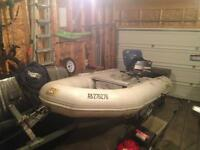 Zodiac inflatable boat-Baltic with 30hpYamaha & EZloader Trailer