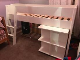 Mid sleeper Stompa bed with pull out desk