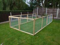 Rabbit puppy chicken run 5x wire mesh panels