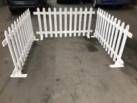 White mobile popup fencing (6 piece) trade show prop