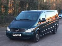 CHEAPEST 2007 MERCEDES VITO 115 CDI EXTRA LONG BUS 9 SEATER TRAVELINER LEATHER DRIVES LOVELY