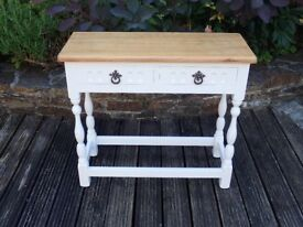 Hall side table with 2 drawers