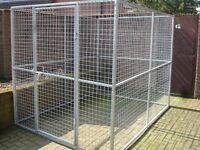 GALVANISED DOG PEN RUN KENNEL CAGE WITH ROOF CAN DELIVER