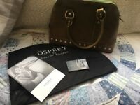 Genuine osprey green handbag with leaflet and dust bag cover