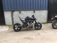 Custom mt01 may swap Px rocket Buell Harley