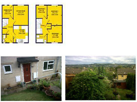 3 bed mid-terrace house with gorgeous views of the Stroud Valleys