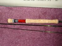 Greys Platinum X 9ft 6in for 7wt line fly rod.