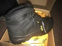 Pair of Site size 8 Steel toe cap safety boots BRAND NEW