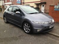 WARRANTED LOW 94000 MILES 2006 Honda CIVIC 2.2 CTDI SPORT DIESEL+12 MONTHS FULL MOT+HPI CLEAR £1995