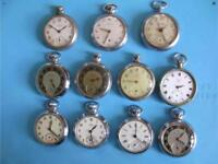 Wanted smiths ingersoll pocket watches for collector