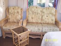 Conservatory furniture - 2 x glass top tables, 2 x chairs and 1 sofa in good condition to sell £150