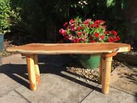 Stunning coffee table in Somerset Yew by local woodcrafter