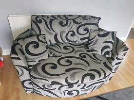 2 seater swivel snuggle chair