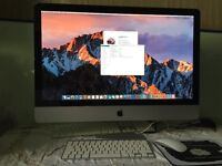 "Apple iMac 27"" (2011) i7 3.4GHZ 10GB RAM 1TB HDD 1GB Graphics MacOS 10.12 Wireless Keyboard & Mouse"