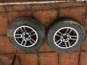 Boat trailer wheels and tyres  Holden HT stud pattern. Camberwell Boroondara Area Preview