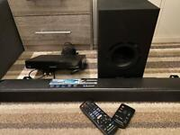 PANASONIC SC-HTB688EBK 3.1 Wireless Sound Bar / Blu-ray player and wall bracket