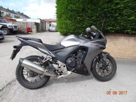 Honda CBR 500. One owner from new. MoT due 11 March 2019.