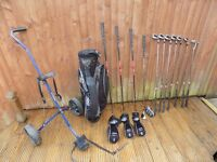 Golf Set - Clubs, Bag, Trolley, Accessories
