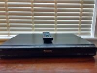 DVD Recorder - Panasonic DMR-EZ28EB-K with remote and cables