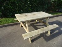 NEW PICNIC TABLES ( Garden, Bench, Furniture, Seats )