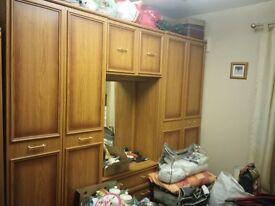 Big wardrobe set with a mirror