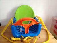 Multicoloured childs plastic swing