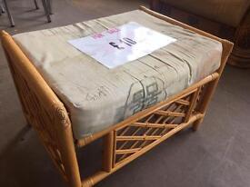 Wicker seat/foot stool