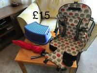 Travel high chair and other