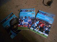 Three Manchester City programmes. 2002- 2003