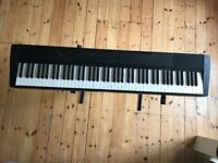 CASIO DIGITAL PIANO CDP-120 BK SCALED HAMMER ACTION FULL WEIGHTED KEYBOARD, powercable,stand & pedal