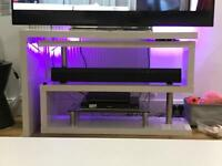 High Gloss multi way tv Unit stand desk