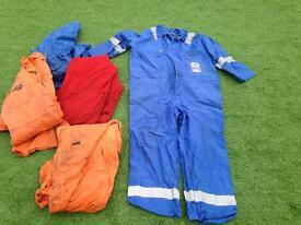 5 worn Boiler Suits