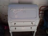 a writing bureau in need of upcycling