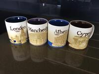 Starbucks large mugs set of 4