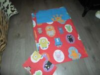 'Next' Children's Monster Motif Single Duvet and Pillow Case