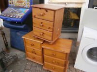 PINE CHEST OF DRAWERS BEDSIDE CABINET IN YEOVIL