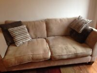 Cream/beige sofa free to a good home. Pick up only.