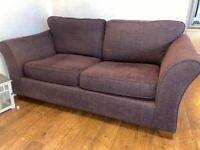 M & S purple sofa