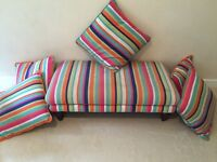 Colourful Footstool and 5 Cushions