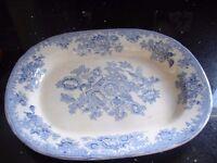 An important meat plate T C Longton,Pheasant design