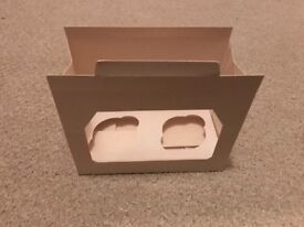 Windowed double cupcake boxes