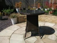 BROWN RATTAN EFFECT TABLE