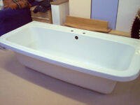 D SHAPED BATH WITH PANEL. BRAND NEW