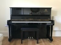 Piano Yamaha U1 upright bought from McClarens of Glasgow in Dec 2017
