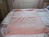 salmon coloured vintage wool blanket