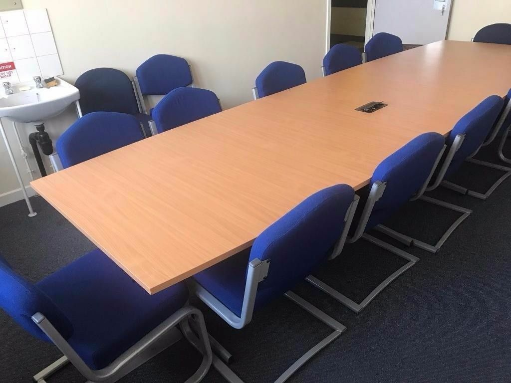 Seater Conference Table Beech With Chairs Package In - 12 seater conference table