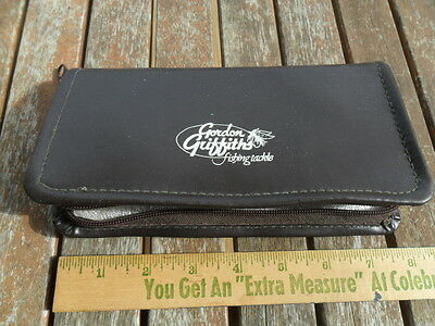 Vintage Gordon Griffiths Fishing Tackle case with 16 Fly Fishing Flies Lures