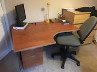 Desk, draws and chair